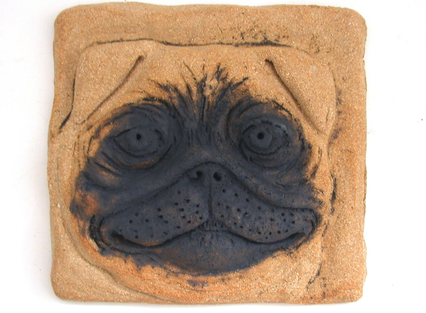 pug wall plaque ceramic dog