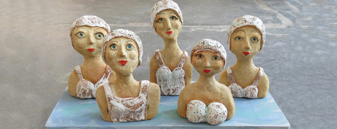 wild swimmers, ceramic people,