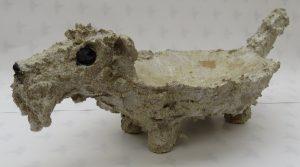 fox terrier, dish ceramic bowl, dog bowl, handmade, stoneware, jane adams ceramics
