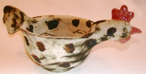 chicken bowl, handmade ceramics, bowl, jane adams ceramics