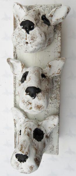 english bull terrier wall hanging, wall plaque, handmade stoneware, ceramic dogs, jane adams ceramics, cornwall