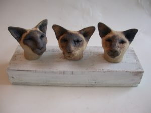 siamese cats, ceramic cats, jane adams ceramics, woodblock