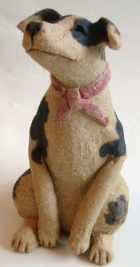 BROWN DOG, CERAMIC, handmade, jane adams ceramics stoneware