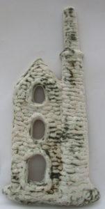 cornish engine house, wall plaque, stoneware, clay, handmade, Poldark, jane adams ceramics, cornwall