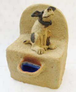 ceramic dog, well, handmade ceramics, jane adams ceramics, cornwall