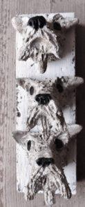 fox terrier, ceramic dog, wall plaque, wall hanging, handmade ceramics, jane adams ceramics, pottery, cornwall