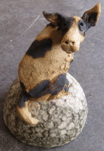 ceramic dog, jane adams ceramics