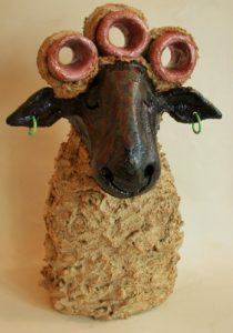 ceramic sheep, handmade pottery, jane adams ceramics