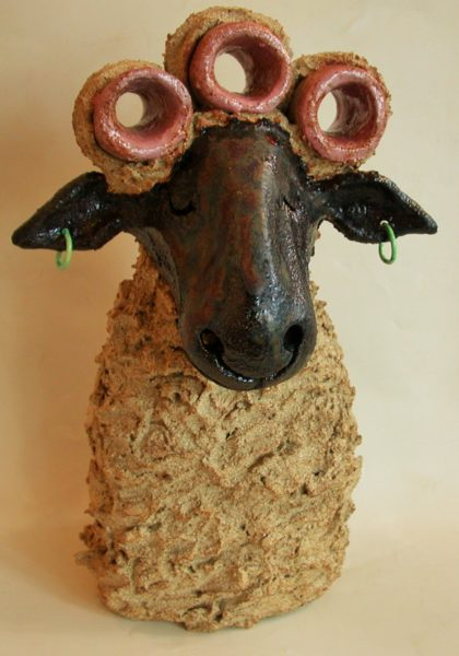 ceramic sheep, handmade pottery, jane adams ceramics