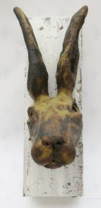hare, ceramic hare, wall plaque, woodblok, handmade, stoneware, jane adams ceramics,