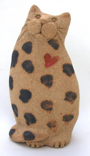 ceramic cat, handmade ceramics, stoneware, studio pottery, jane adams ceramics