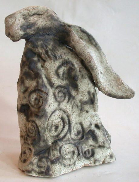 megalith hare, ceramic hare, moongazer hare, jane adams ceramics