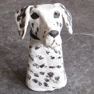 ceramic dogs, dalmatian dog, jane adams ceramics