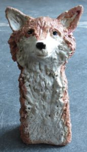ceramic fox, rogues gallery, jane adams ceramics