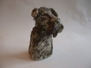 rogues gallery schnauzer, ceramic dog, handmade ceramics, jane adams ceramics, cornwall