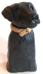 black labrador, handmade ceramic dog, jane adams ceramics, cornwall