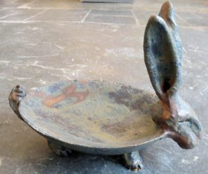 hare dish, ceramic, bowl, jane adams ceramics