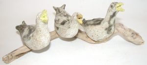 seagull, pottery seagull, seagull ornament, driftwood, coastal, stoneware, handmade ceramis, jane adams ceramics