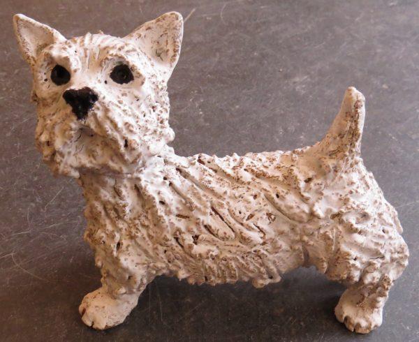 westie dog, ceramic dog, jane adams ceramics