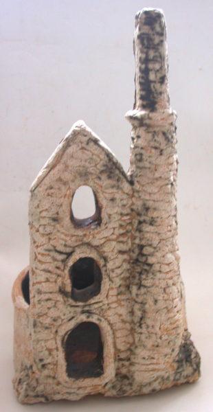 Cornish Engine House planter. handmade, studio ceramics, outdoors, cornwall, poldark