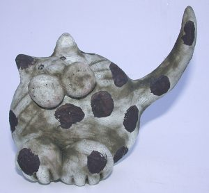hand built, ceramic cats, jane adams ceramics