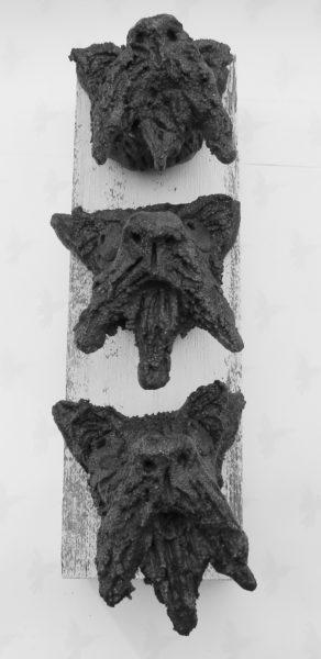scottish terrier, pottery terriers, pottery scotties, wall plaque, jane adams ceramics