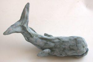whale, ceramic whale, undersea creatures, marine mammals, stoneware, handbuilt, jane adams ceramics