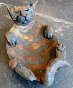 cat bowl, cat dish, handmade, pottery, ornament, jane adams ceramics