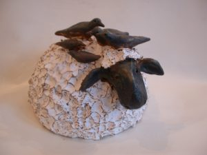 sheep, birds, ceramics, pottery, jane adams ceramics