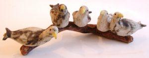 seagulls, driftwood, seaside, studio pottery, handmade, pottery seagulls, jane adams ceramics