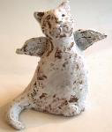 angel cat, ceramic cat, pottery angel, jane adams ceramics