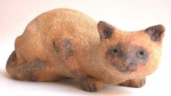 siamese cat, handmade, pottery cat, cat ornament, handmade cat, jane adams ceramics