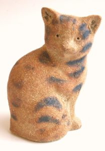 tabby cat, ceramic cat, cat ornament, handmade stonewarea, pottery cat, jane adamas ceramics