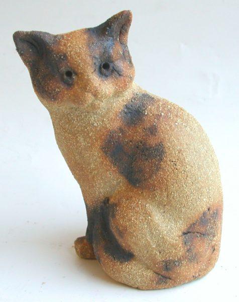 tortie cat, cat ornament, handmade ceramic cat, handbuilt stoneware, jane adams ceramics