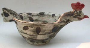 handmade bowl, ceramic bowl, chicken, jane adams ceramics