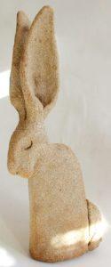 hare pottery, pottery hare, hare ornament, cramic hares, clay, jane adams ceramics