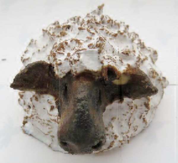 ceramic sheep, hand built, stoneware, jane adams ceramics
