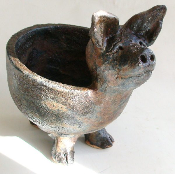pig bowl, handmade bowl, ceramic bowl, jane adams ceramics