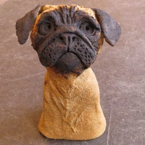 cramic dogs, dogs, pugs, handmade ceramic dogs, pottery dogs, quirky ceramics, stoneware, jane adams ceramics