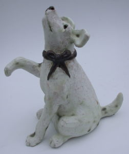ceramic, dog, handmade, studio ceramics, pottery, dog ornament, jane adams ceramics