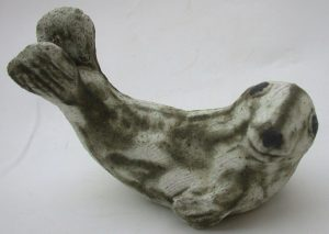 grey seal, seal pup, ceramic seal, handmade stoneware, studio pottery, jane adams ceramics