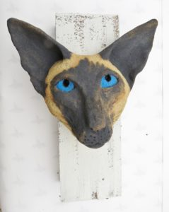 siamese cat, ceramic siamese, pottery cats, woodblock, wall hanging, jane adams ceramics