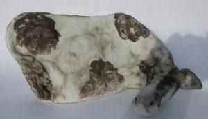 ceramic cow, splodgy, fresian cow, jane adams ceramics, farm animals