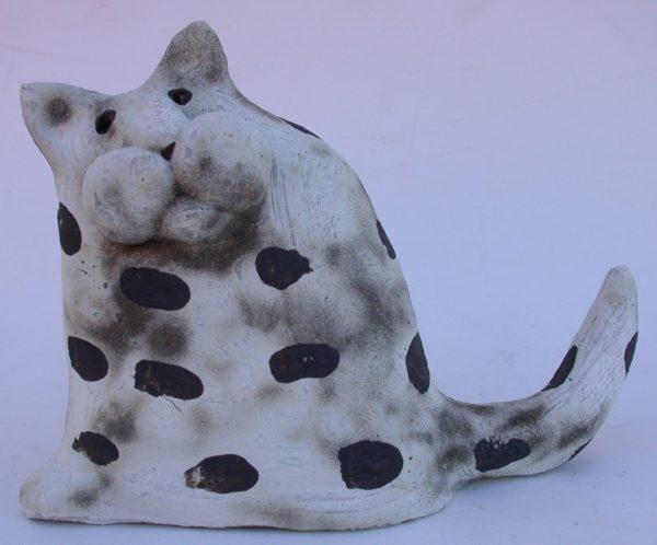cat ornament, ceramic cat, hand built stoneware cat, jane adams ceramics