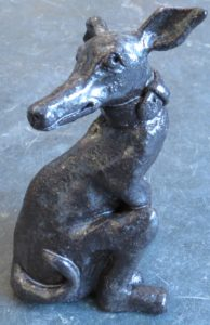 ceramic dog, ceramic whippet, handbuilt stoneware, pottery dog, pottery whippet, jane adams ceramics