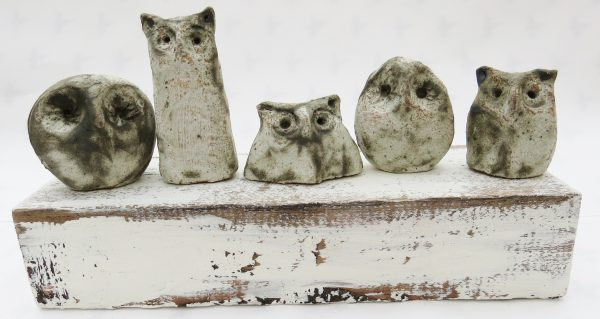 owls, woodblock, ornament, handmade pottery, stoneware, jane adams ceramics