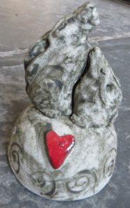MOONGAzing hares, hare ornament, handbuilt studio pottery, jane adams ceramics