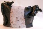 beltie, belted galloway, ceramic cow, handmade, pottery cow, jane adams ceramics