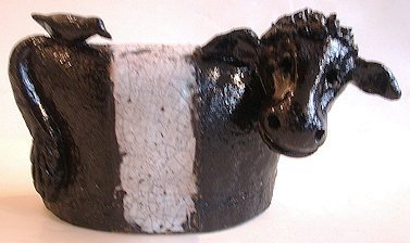 Beltie, cow, ceramic, pottery, handmade, jane adams ceramics