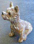 cairn terrier, pottery dog, handmade stoneware, ceramic dogs, dog ornament, jane adams ceramics, studio pottery, handmade